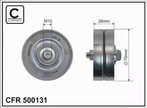 CAFFARO 500131 - Poulie-tendeur, courroie trapézoïdale à nervures www.widencarpieces.com
