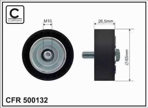 CAFFARO 500132 - Poulie renvoi/transmission, courroie trapézoïdale à nervures www.widencarpieces.com