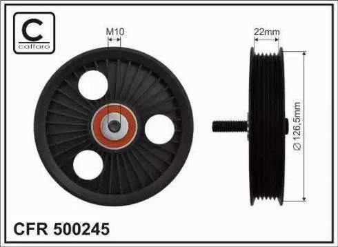 CAFFARO 500245 - Poulie-tendeur, courroie trapézoïdale à nervures www.widencarpieces.com