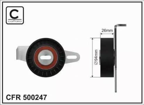 CAFFARO 500247 - Tendeur de courroie, courroie trapézoïdale à nervures www.widencarpieces.com