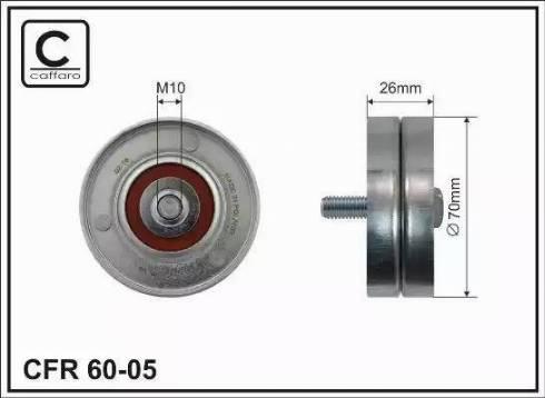 CAFFARO 60-05 - Poulie renvoi/transmission, courroie trapézoïdale à nervures www.widencarpieces.com