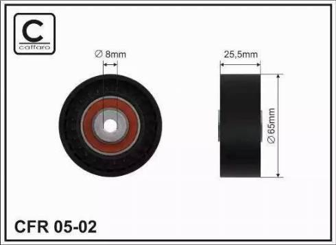 CAFFARO 05-02 - Poulie renvoi/transmission, courroie trapézoïdale à nervures www.widencarpieces.com