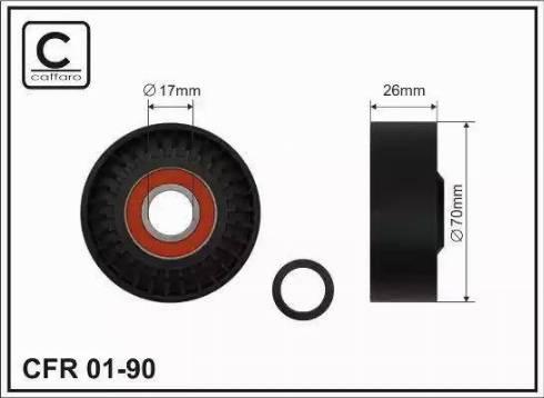 CAFFARO 01-90 - Poulie-tendeur, courroie trapézoïdale à nervures www.widencarpieces.com