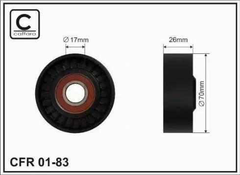CAFFARO 01-83 - Poulie-tendeur, courroie trapézoïdale à nervures www.widencarpieces.com