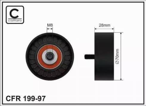 CAFFARO 199-97 - Poulie-tendeur, courroie trapézoïdale à nervures www.widencarpieces.com