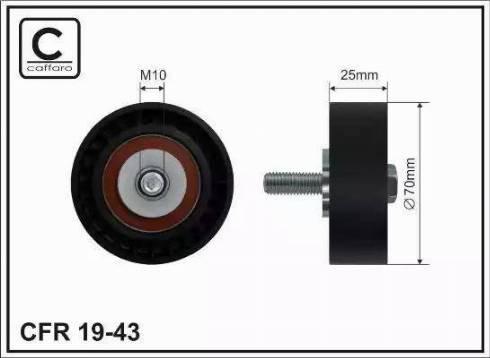 CAFFARO 19-43 - Poulie renvoi/transmission, courroie trapézoïdale à nervures www.widencarpieces.com