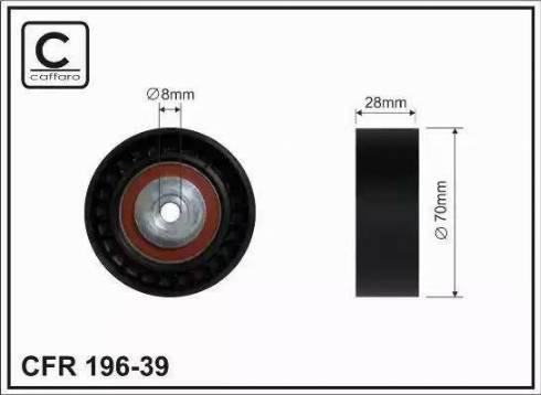 CAFFARO 196-39 - Poulie renvoi/transmission, courroie trapézoïdale à nervures www.widencarpieces.com