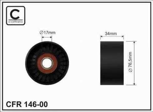 CAFFARO 146-00 - Poulie renvoi/transmission, courroie trapézoïdale à nervures www.widencarpieces.com