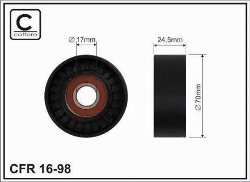CAFFARO 16-98 - Poulie-tendeur, courroie trapézoïdale à nervures www.widencarpieces.com