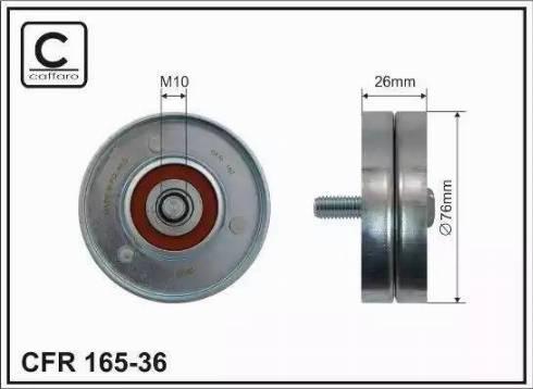 CAFFARO 165-36 - Poulie renvoi/transmission, courroie trapézoïdale à nervures www.widencarpieces.com