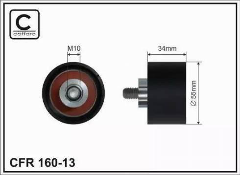 CAFFARO 160-13 - Poulie renvoi/transmission, courroie de distribution www.widencarpieces.com