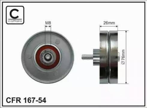 CAFFARO 167-54 - Poulie renvoi/transmission, courroie trapézoïdale à nervures www.widencarpieces.com