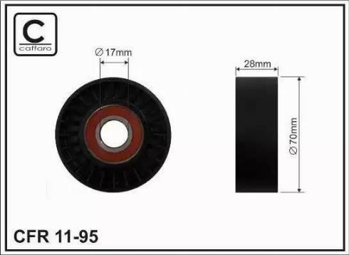 CAFFARO 11-95 - Poulie-tendeur, courroie trapézoïdale à nervures www.widencarpieces.com