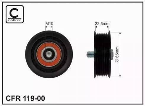 CAFFARO 119-00 - Poulie renvoi/transmission, courroie trapézoïdale à nervures www.widencarpieces.com