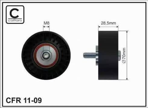 CAFFARO 11-09 - Poulie renvoi/transmission, courroie trapézoïdale à nervures www.widencarpieces.com