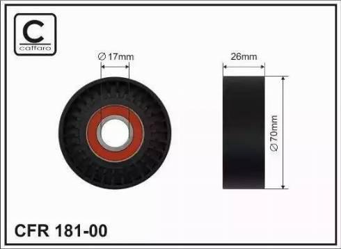 CAFFARO 181-00 - Poulie renvoi/transmission, courroie trapézoïdale à nervures www.widencarpieces.com