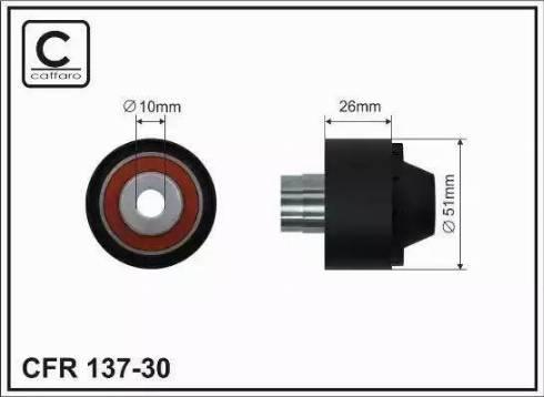 CAFFARO 137-30 - Poulie renvoi/transmission, courroie trapézoïdale à nervures www.widencarpieces.com