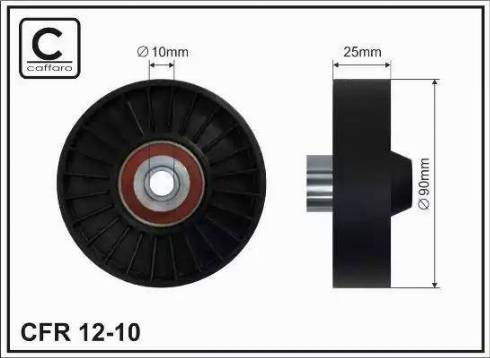 CAFFARO 12-10 - Poulie renvoi/transmission, courroie trapézoïdale à nervures www.widencarpieces.com