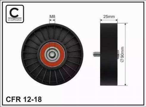 CAFFARO 12-18 - Poulie renvoi/transmission, courroie trapézoïdale à nervures www.widencarpieces.com