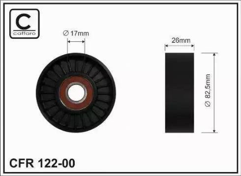 CAFFARO 122-00 - Poulie renvoi/transmission, courroie trapézoïdale à nervures www.widencarpieces.com