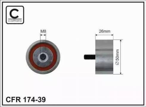 CAFFARO 174-39 - Poulie renvoi/transmission, courroie trapézoïdale à nervures www.widencarpieces.com