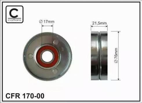 CAFFARO 170-00 - Poulie-tendeur, courroie trapézoïdale à nervures www.widencarpieces.com