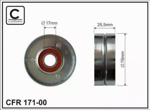 CAFFARO 171-00 - Poulie-tendeur, courroie trapézoïdale à nervures www.widencarpieces.com