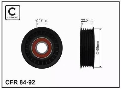 CAFFARO 84-92 - Poulie-tendeur, courroie trapézoïdale à nervures www.widencarpieces.com