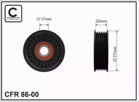 CAFFARO 86-00 - Poulie-tendeur, courroie trapézoïdale à nervures www.widencarpieces.com