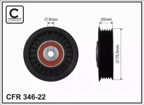 CAFFARO 346-22 - Poulie renvoi/transmission, courroie trapézoïdale à nervures www.widencarpieces.com