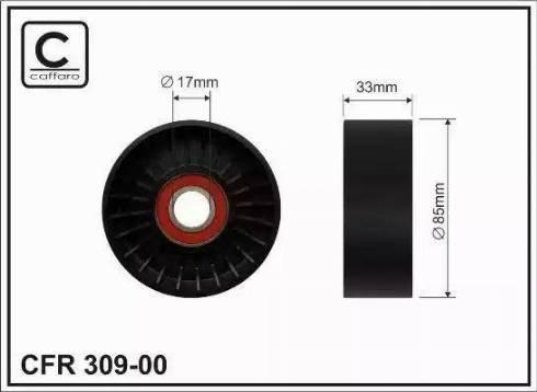 CAFFARO 309-00 - Poulie renvoi/transmission, courroie trapézoïdale à nervures www.widencarpieces.com