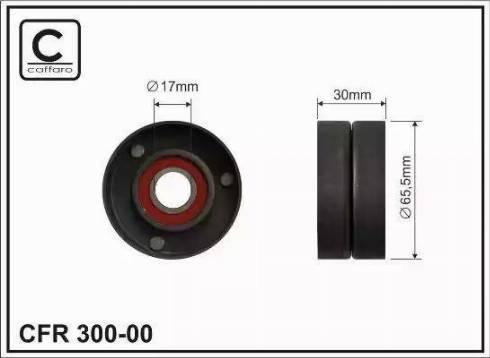 CAFFARO 300-00 - Poulie-tendeur, courroie trapézoïdale à nervures www.widencarpieces.com