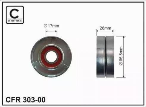CAFFARO 303-00 - Poulie-tendeur, courroie trapézoïdale à nervures www.widencarpieces.com