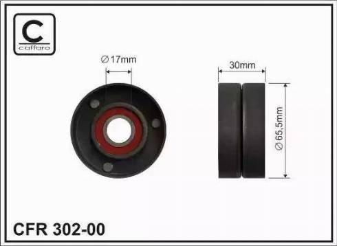 CAFFARO 302-00 - Poulie-tendeur, courroie trapézoïdale à nervures www.widencarpieces.com