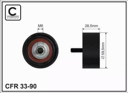 CAFFARO 33-90 - Poulie renvoi/transmission, courroie de distribution www.widencarpieces.com