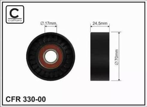 CAFFARO 330-00 - Poulie-tendeur, courroie trapézoïdale à nervures www.widencarpieces.com