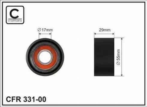 CAFFARO 331-00 - Poulie-tendeur, courroie trapézoïdale à nervures www.widencarpieces.com
