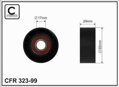 CAFFARO 323-99 - Poulie-tendeur, courroie trapézoïdale à nervures www.widencarpieces.com