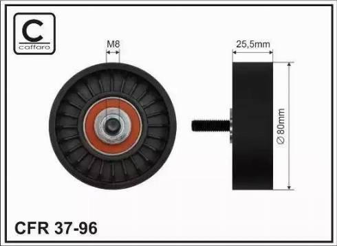 CAFFARO 37-96 - Poulie-tendeur, courroie trapézoïdale à nervures www.widencarpieces.com