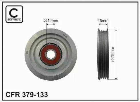 CAFFARO 379-133 - Poulie renvoi/transmission, courroie trapézoïdale à nervures www.widencarpieces.com