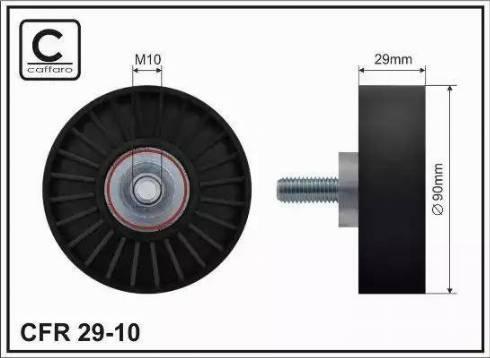 CAFFARO 29-10 - Poulie renvoi/transmission, courroie trapézoïdale à nervures www.widencarpieces.com