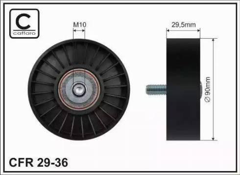 CAFFARO 29-36 - Poulie renvoi/transmission, courroie trapézoïdale à nervures www.widencarpieces.com