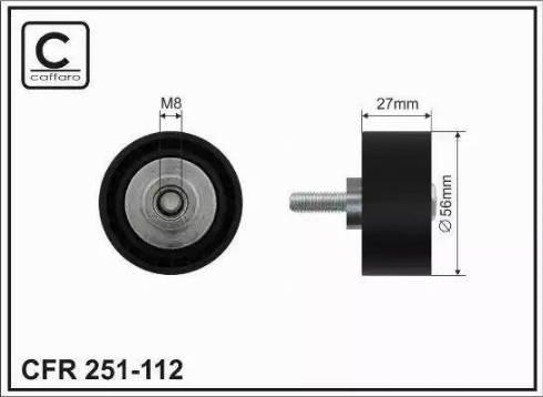 CAFFARO 251-112 - Poulie renvoi/transmission, courroie trapézoïdale à nervures www.widencarpieces.com
