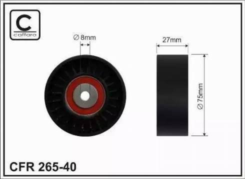 CAFFARO 265-40 - Poulie-tendeur, courroie trapézoïdale à nervures www.widencarpieces.com