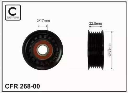 CAFFARO 268-00 - Poulie-tendeur, courroie trapézoïdale à nervures www.widencarpieces.com