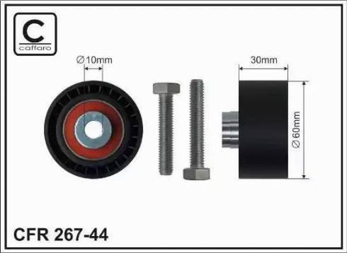 CAFFARO 267-44 - Poulie renvoi/transmission, courroie de distribution www.widencarpieces.com