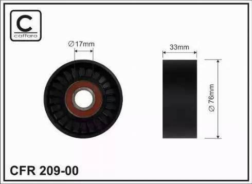 CAFFARO 209-00 - Poulie renvoi/transmission, courroie trapézoïdale à nervures www.widencarpieces.com