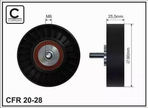 CAFFARO 20-28 - Poulie renvoi/transmission, courroie trapézoïdale à nervures www.widencarpieces.com