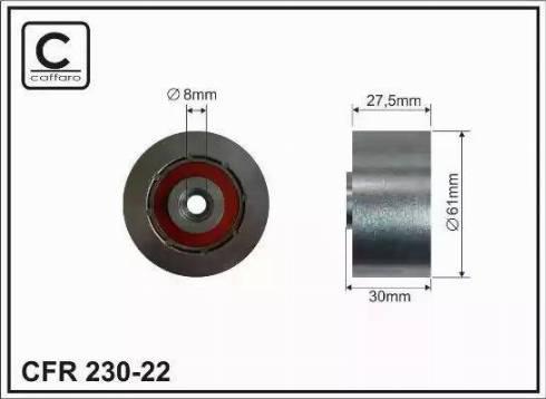 CAFFARO 230-22 - Poulie renvoi/transmission, courroie de distribution www.widencarpieces.com