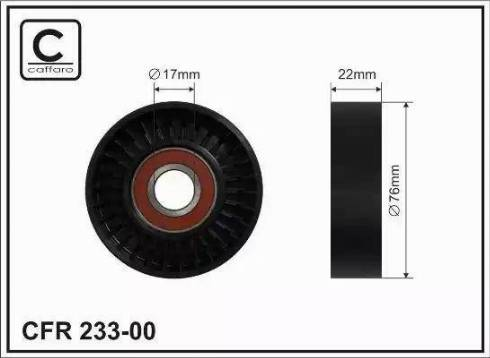 CAFFARO 233-00 - Poulie-tendeur, courroie trapézoïdale à nervures www.widencarpieces.com